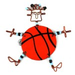 Dancing Girl Basketball Pin - The Takataka Collection