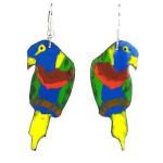Painted Parrot Earrings - Creative Alternatives