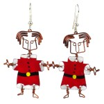 Dancing Girl Santa Earrings - The Takataka Collection