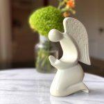 Praying Angel Soapstone Sculpture - Natural Stone