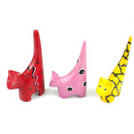 Set of 3 Mini Handcrafted Soapstone Cats - Smolart