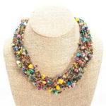 12 Strand Bead Beach Ball Necklace - Lucias Imports (J)