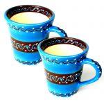 Set of Two Flared Cups - Azure Blue - encantada