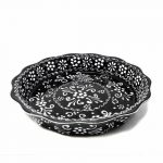 Encantada Handmade Pottery Serving Dish, Ink