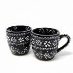 Encantada Handmade Pottery Set of Two Mugs, Ink