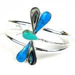 Turquoise Mosiac Alpaca Silver Dragonfly Bracelet - Small - Artisana