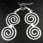 Hammered Scroll Silver Overlay Earrings - Artisana