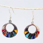 Mosaic Flat Hoop Earrings - Artisana