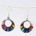 Mosaic Flat Hoop Earrings