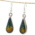 Yellow Flower Drop Earrings - Artisana