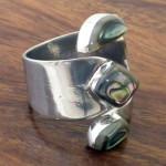 Abalone and Alpaca Silver Wrap Ring - Artisana
