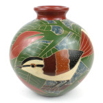 6 inch Tall Vase - White Bird - Esperanza en Accion