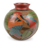 6 inch Tall Vase - Two Birds - Esperanza en Accion