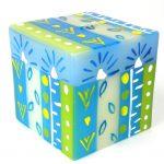 Hand Painted Candle - Cube - Ihlobo - Nobunto