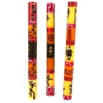 Set of Three Boxed Tall Hand-Painted Candles - Damisi Design