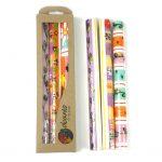 Tall Hand Painted Candles - Three in Box - Imbali Design - Nobunto