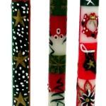 Set of Three Boxed Tall Hand-Painted Candles - Ukhisimui Design - Nobunto Candles
