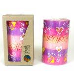 Hand Painted Candle - Single in Box - Ashiki Design - Nobunto