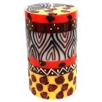 Single Boxed Hand-Painted Pillar Candle - Uzima Design