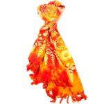 Handmade Sarong Fire Orange - Designs will Vary - Global Groove (W)