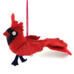 Cardinal Felt Holiday Ornament - Silk Road Bazaar (O)