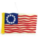 Felt Colonial American Flag Ornament - Silk Road Bazaar (O)