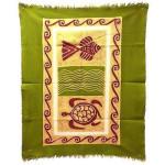 Sea Life Batik in Green/Yellow/Red - Tonga Textiles