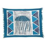 Handpainted Blue Jellyfish Batiked Placemat - Tonga Textiles