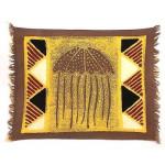 Handpainted Grey Jellyfish Batiked Placemat - Tonga Textiles