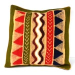 Handmade Geometric Water Batik Cushion Cover