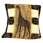 Handmade Black and White Giraffe Batik Cushion Cover