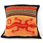 Handmade Colorful Lizard Cushion Cover
