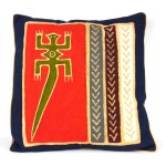 Handmade Red Lizard Batik Cushion Cover