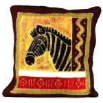 Handmade Colorful Zebra Batik Cushion Cover