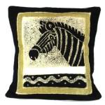 Handmade Black and White Zebra Batik Cushion Cover